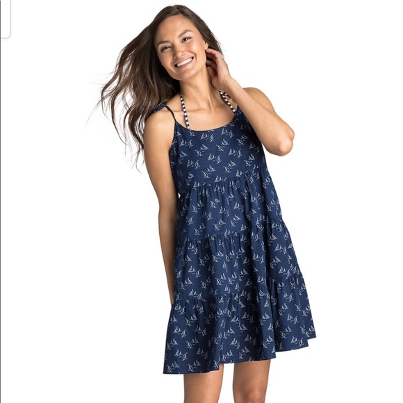911c7fb64a Vineyard Vines Sailboat printed tiered coverup. M_5bb3bd1aaa57192d95c570df